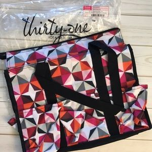 NWT! Thirty-One Zip Top Organizing Utility Tote